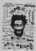 Lee Perry Poster A4 printed on silver card